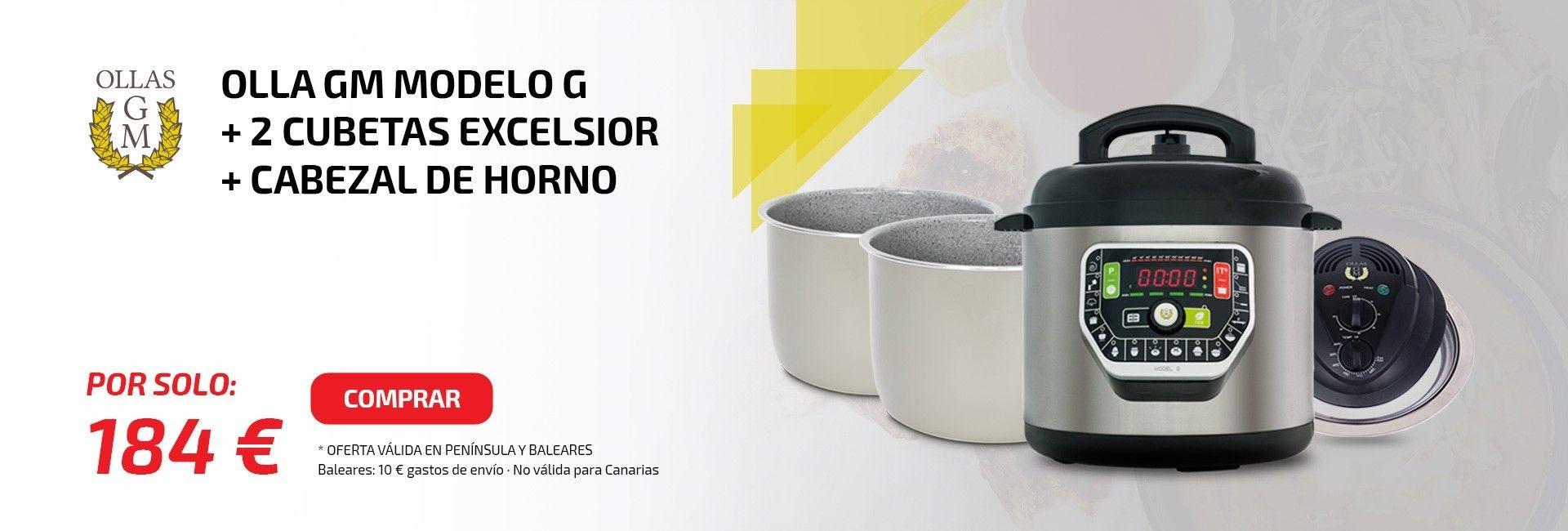 OLLA GM MODELO G + 2 CUBETAS EXCELSIOR + CABEZAL DE HORNO